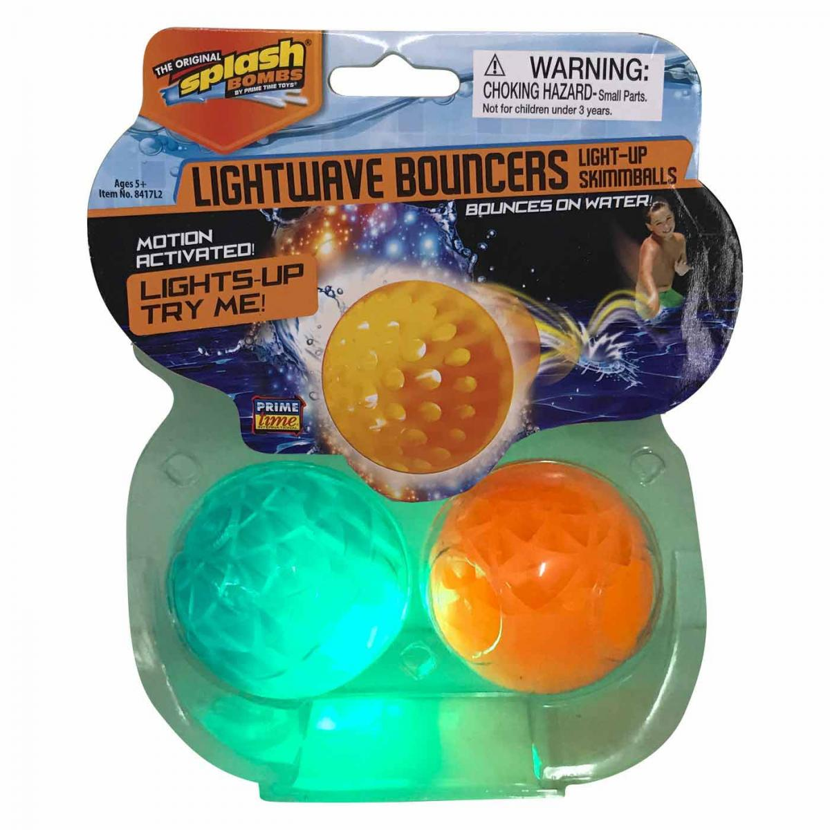 Splash Bombs Light-Up Waterproof Flying Discs