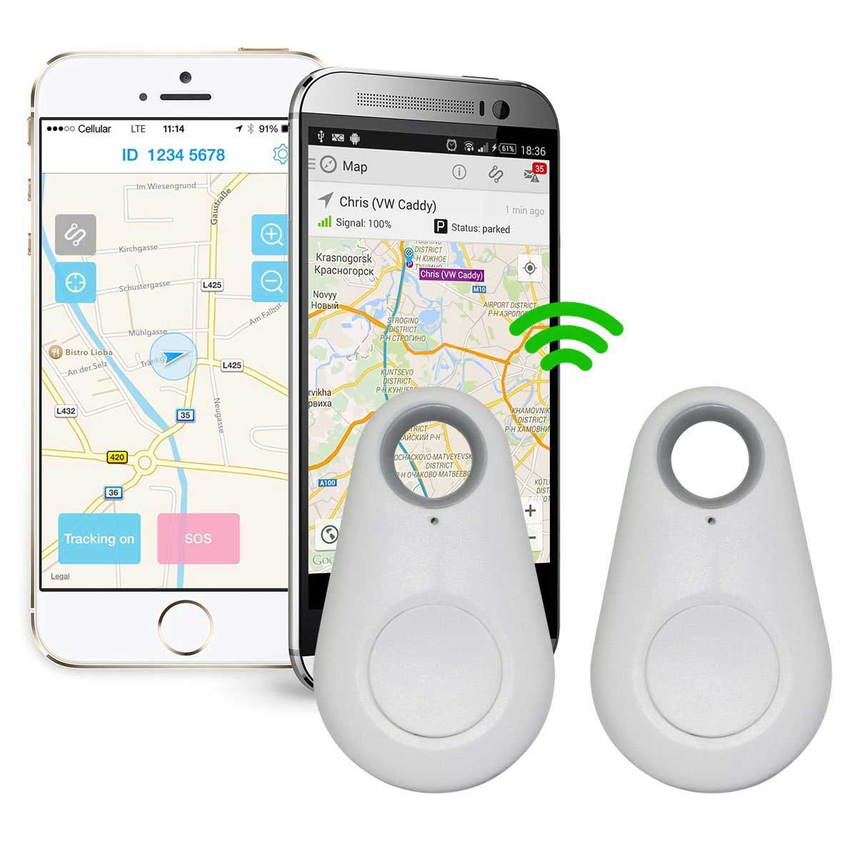 Mini GPS Smart Tracker Keychain