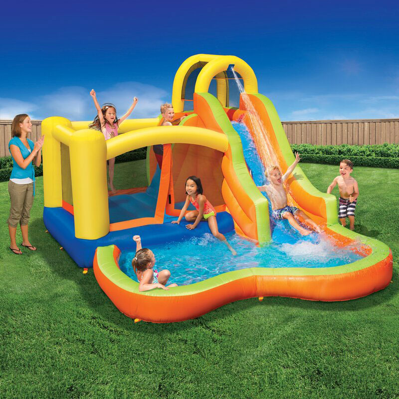 Inflatable Water Slide with Air Blower