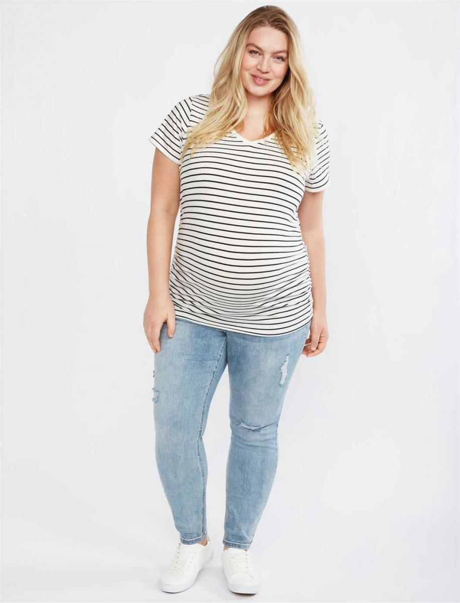 Plus Size Secret Fit Belly Skinny Leg Maternity Jeans