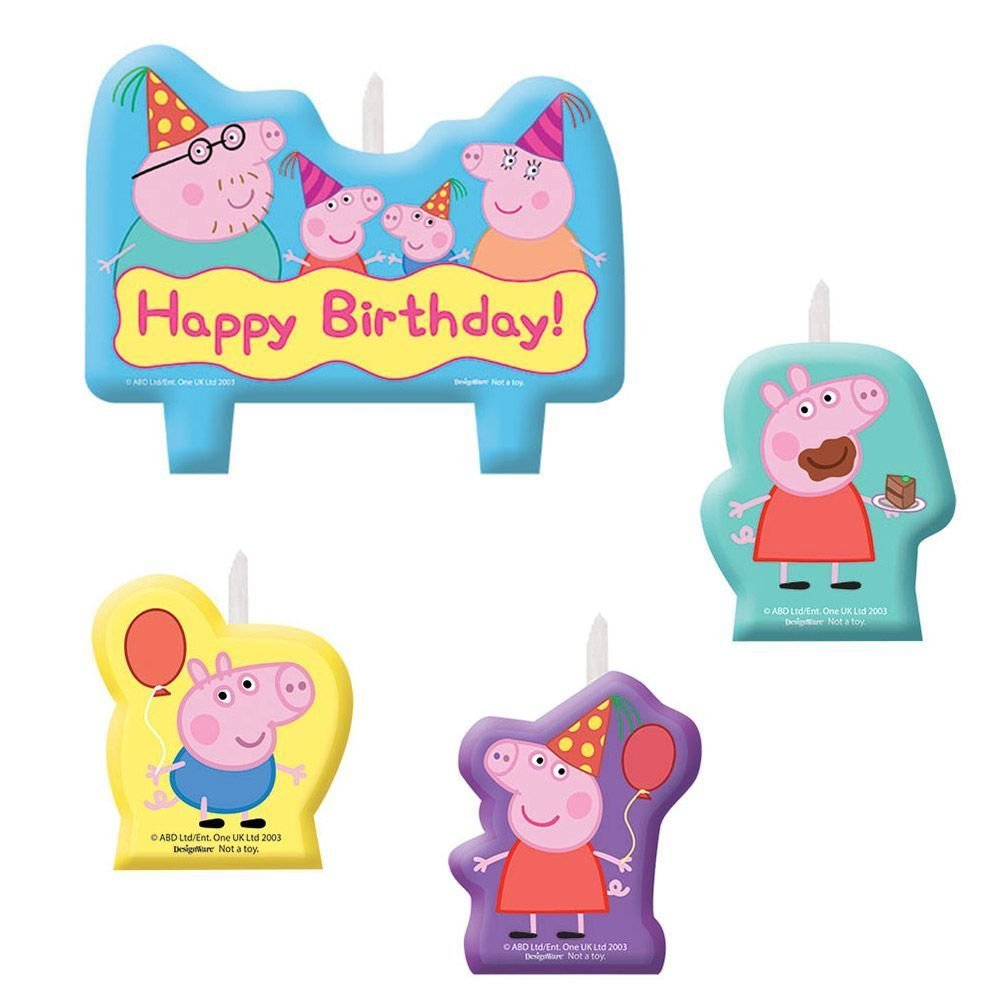 Peppa Pig Cake Topper Candle Set