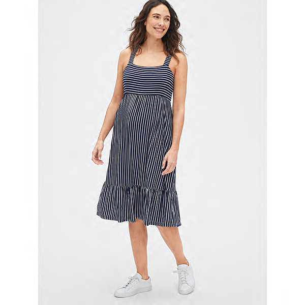 Gap Maternity Ruffle-Hem Apron Dress