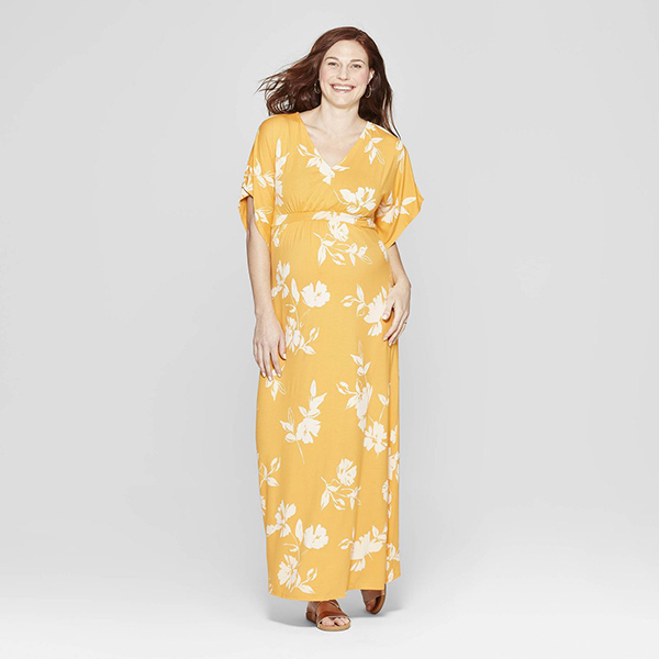 Isabel Maternity by Ingrid & Isabel Maternity Floral Kimono Sleeve Maxi Dress