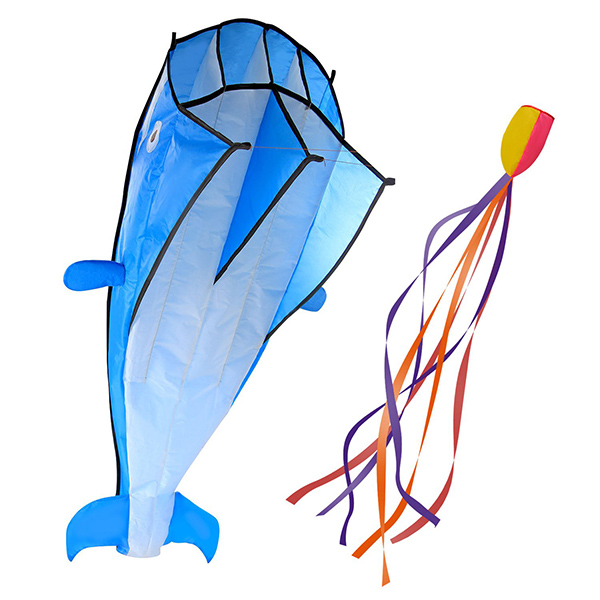 IMAGE 3D Large Blue Dolphin Kite