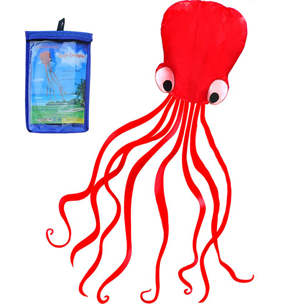 HENGDA KITE Red Mollusc Octopus