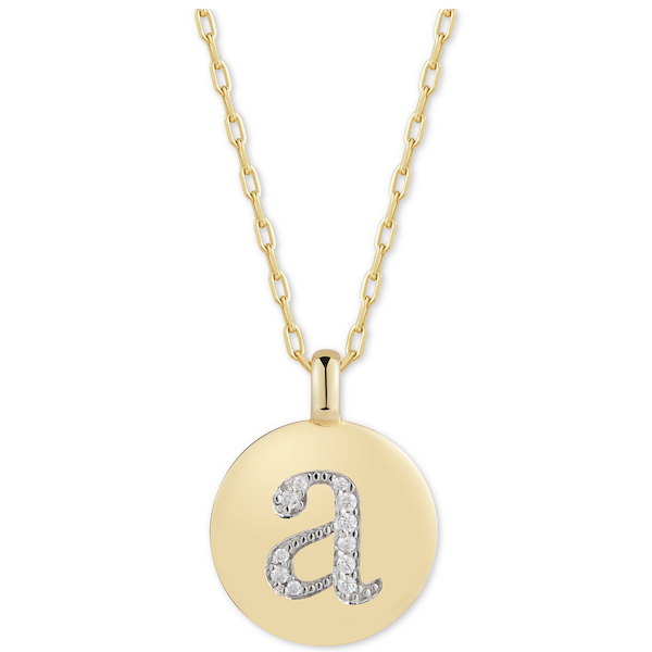 CHARMBAR Initial Reversible Charm Pendant Necklace