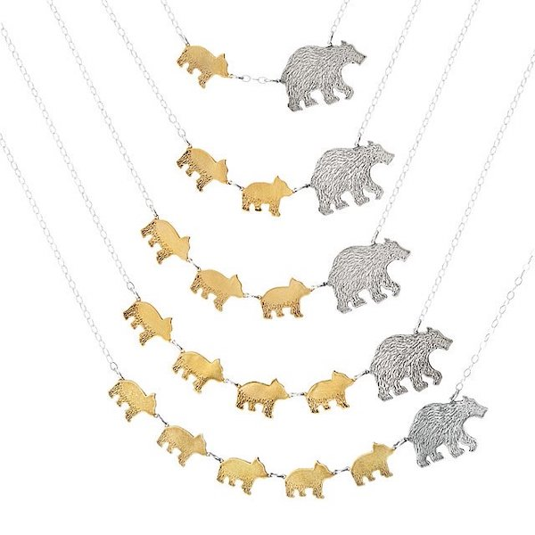 Uncommon Goods Mama Bear Necklaces