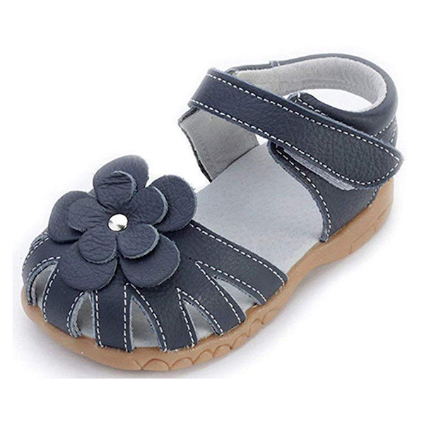 Femizee Girls Genuine Leather Soft Closed Toe Princess Summer Sandals