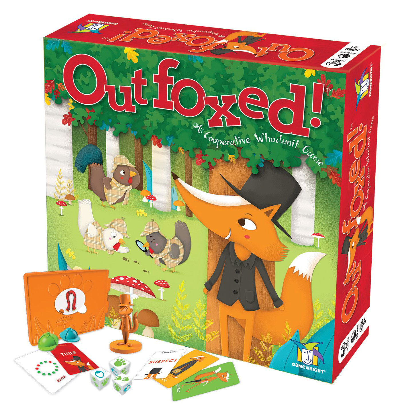 Gamewright Outfoxed! Whodunit Board Game