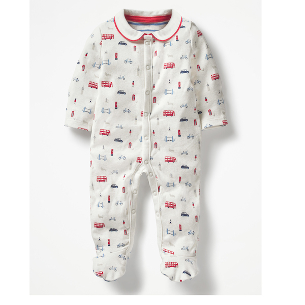 Boden Baby Printed Sleepsuit