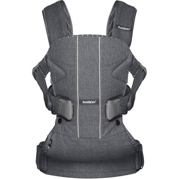 BabyBjörn Baby Carrier One in Gray/Pinstripe
