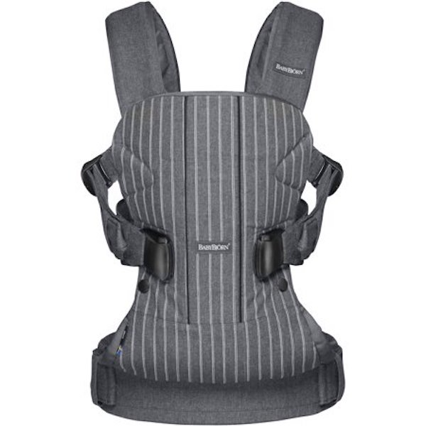 BabyBjörn Baby Carrier One in Pinstripe/Gray