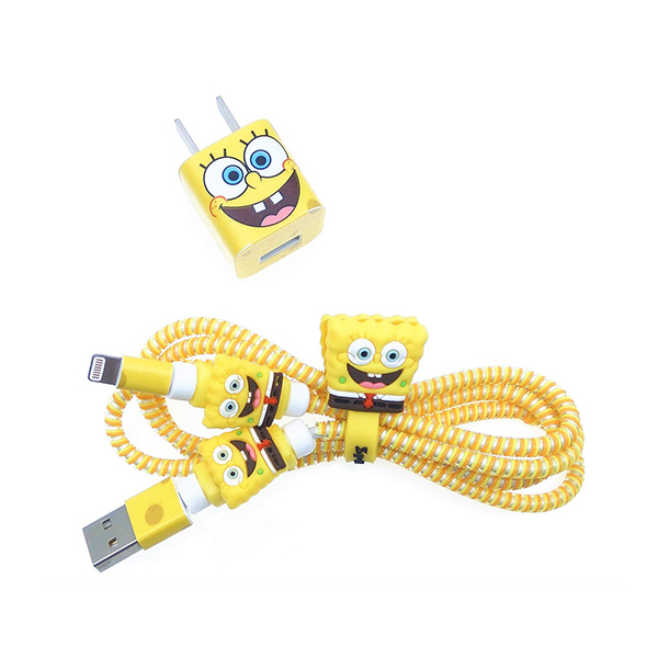 SpongeBob iPhone Charger Wire Protector
