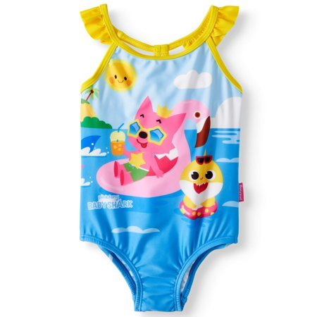 Baby Girls' Pinkfong Baby Shark One Piece Swimsuit