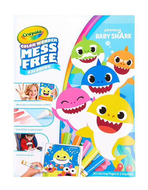 Crayola Color Wonder Baby Shark Coloring Pages and Markers