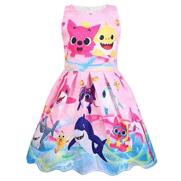 Coralup Toddler Girls Baby Shark Party Dress