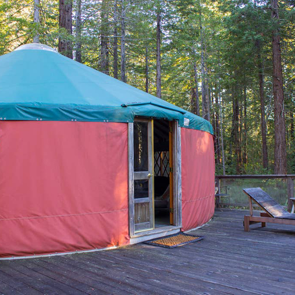 Peaceful Yurt in the Redwoods in Gualala, CA