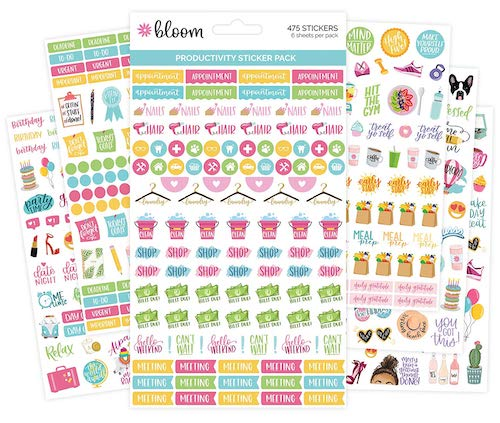 bloom daily planners Productivity Planner Stickers