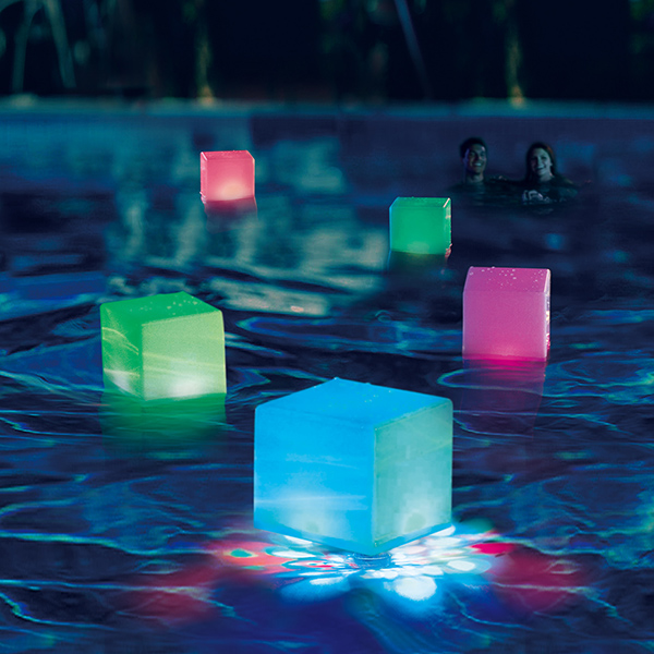 Summer Waves Aqua Glow Floating Cube LED Swimming Pool Light