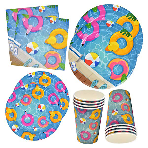Pool Party Disposable Tableware
