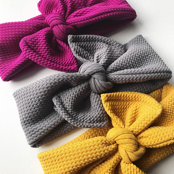 Textured Knit Top Knot Headbands for All Ages