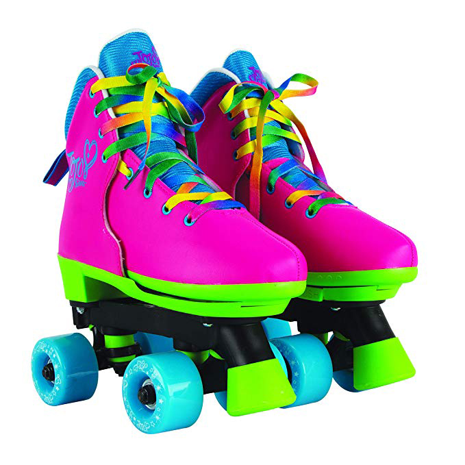 Circle Society Classic Adjustable Indoor & Outdoor Childrens Roller Skates - JoJo Rainbow