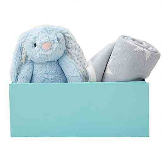 My 1st Years New Baby Blue Star Blanket & Bunny Soft Toy Gift Set