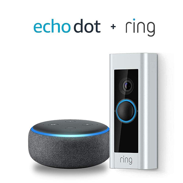 Ring Video Doorbell Pro with Amazon Echo Dot