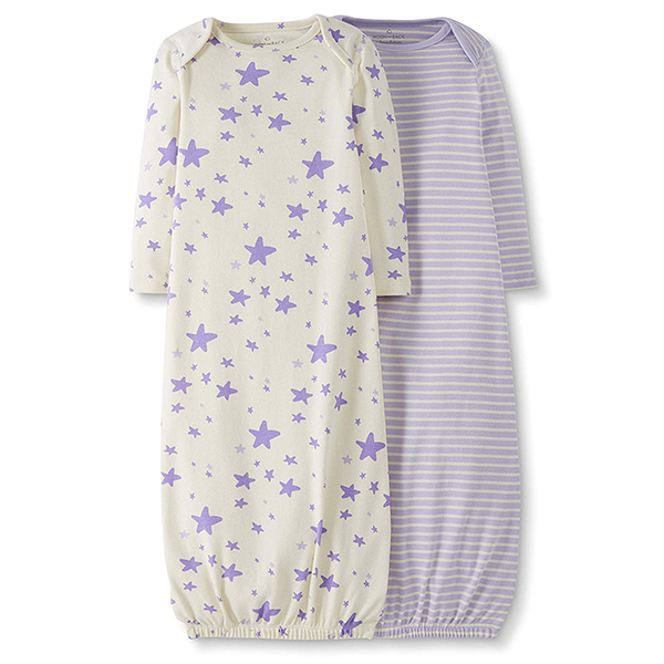 Moon and Back by Hanna Andersson Baby 2-Pack Organic Cotton Sleeper Gown