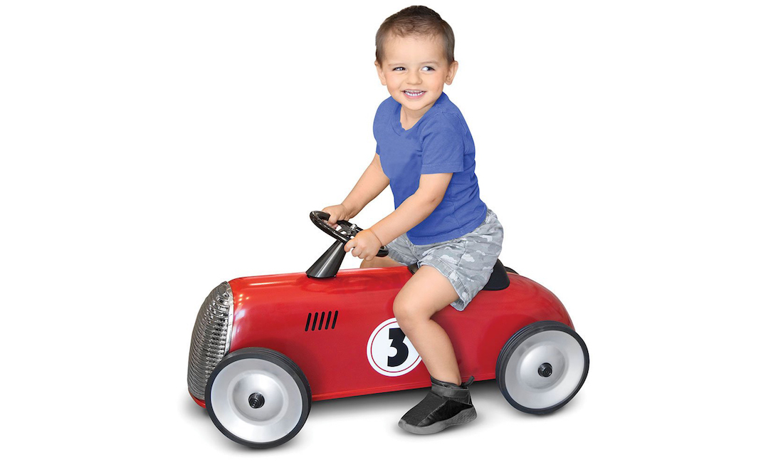 Race Online to Grab a Prime Day Deal on this FAO Schwarz Ride-On Roadster Car for Kids!