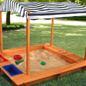 Scoop Up This Amazing Amazon Prime Day Deal: The KidKraft Activity Sandbox with Canopy