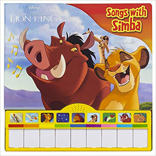 Songs with Simba Piano Songbook with Built-In Keyboard