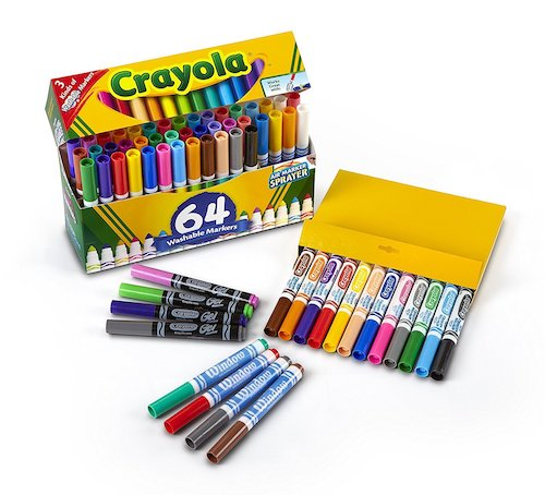 Crayola Back-to-School 64-Count Washable Marker Set
