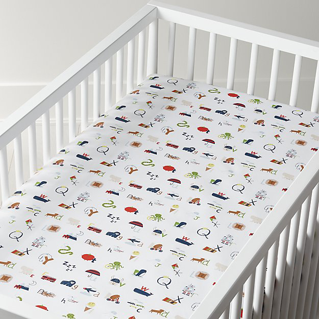 Organic Marigold Butterfly Crib Fitted Sheet