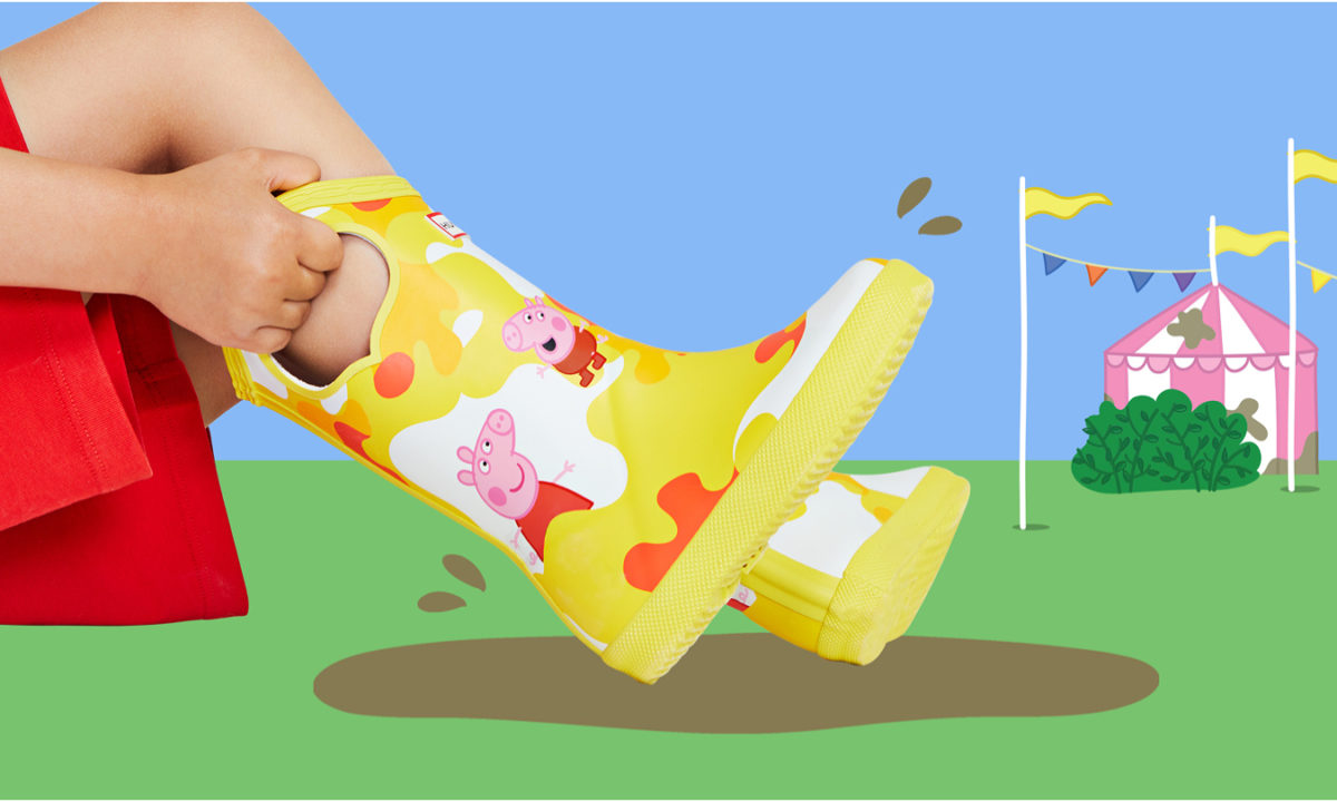 These Hunter X Peppa Pig Boots Are Perfect for Jumping in Muddy Puddles