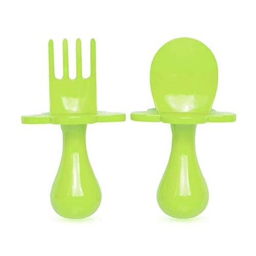 Elli&Nooli Grabease First Training Self Feeding Utensil Set for Toddlers
