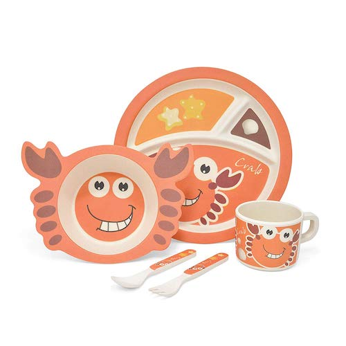 YourMate Kids Bamboo Dinnerware Set