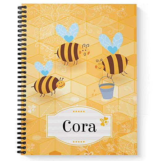 Busy Bees Children's Personalized Notebook