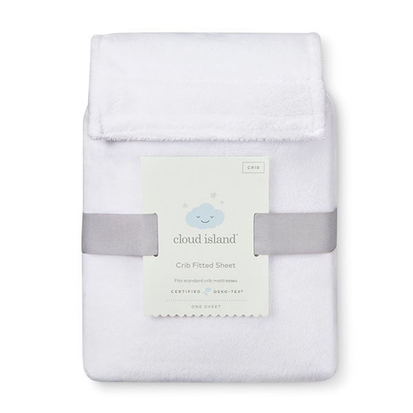 Cloud Island Plush Fitted Crib Sheet