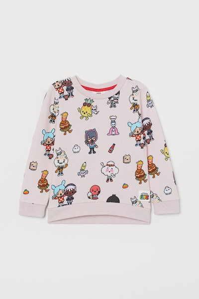 Toca Life x H&M Sweatshirt with Printed Design