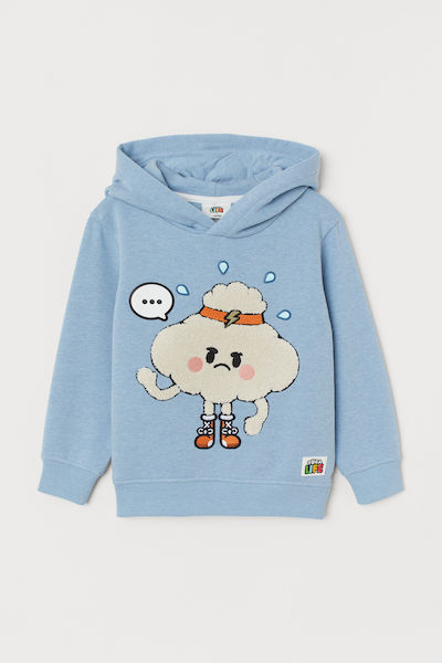 Toca Life x H&M Hooded Sweatshirt with Motif