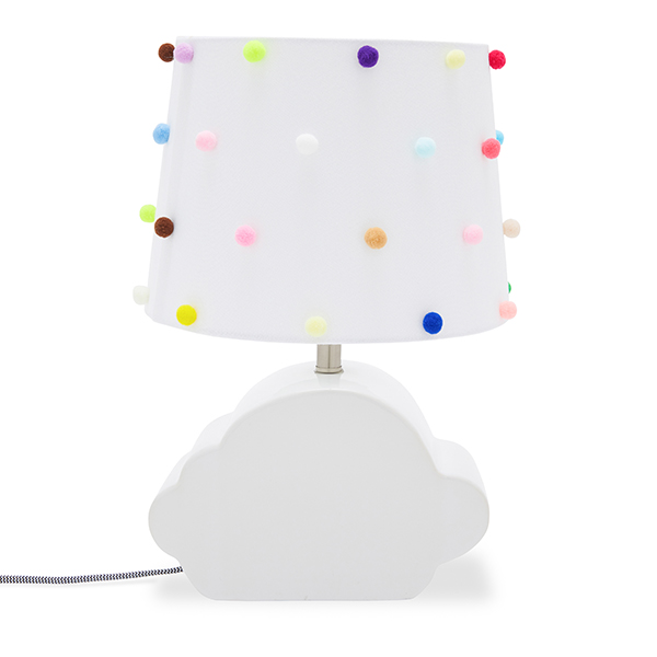 Ceramic Cloud Shaped Lamp Base and Shade by Drew Barrymore Flower Kids