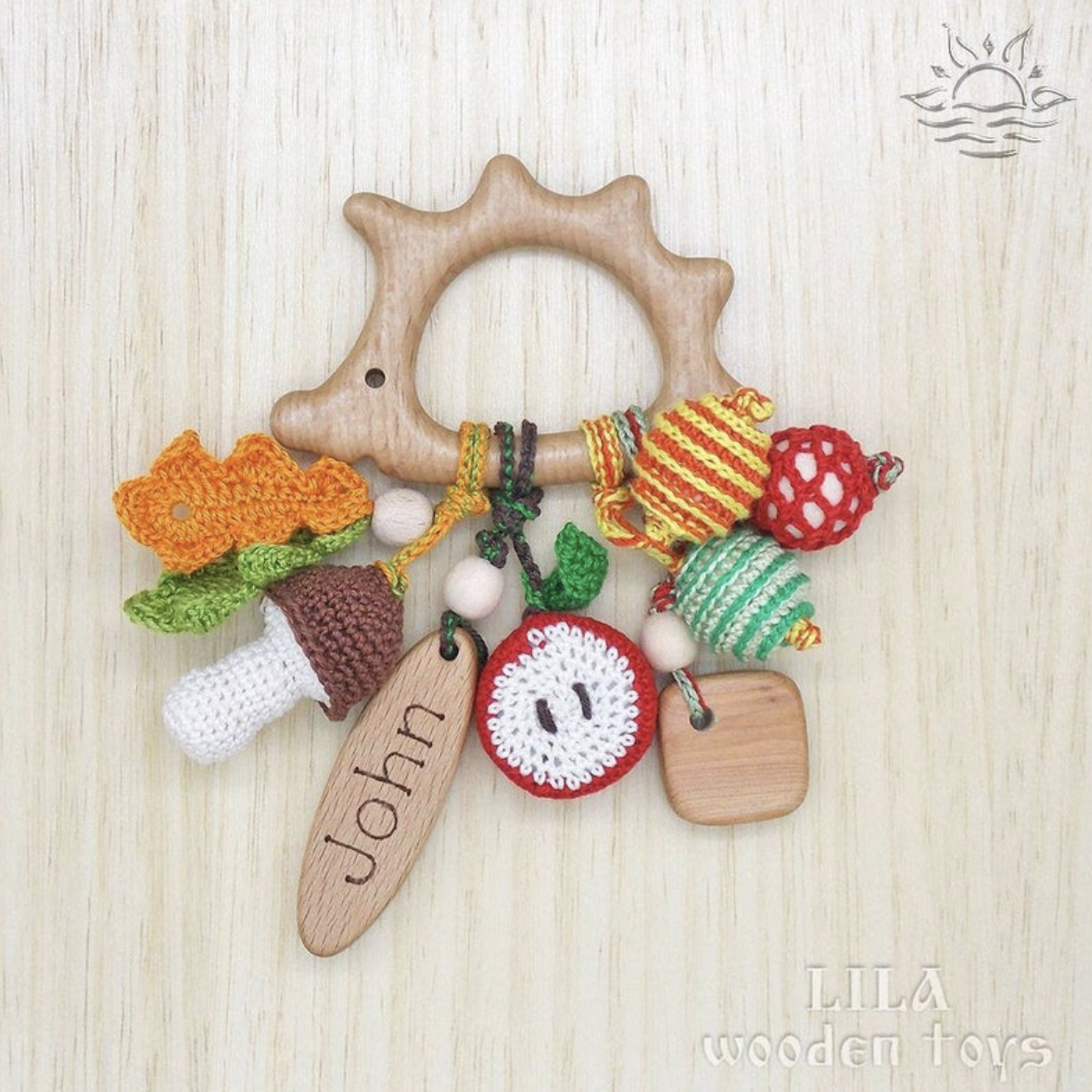 Our Similar Pick: Hedgehog Teether Baby Wooden Teether