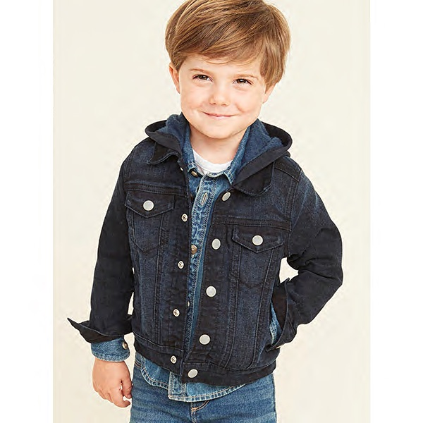 Old Navy Hooded Jean Jacket for Toddler Boys