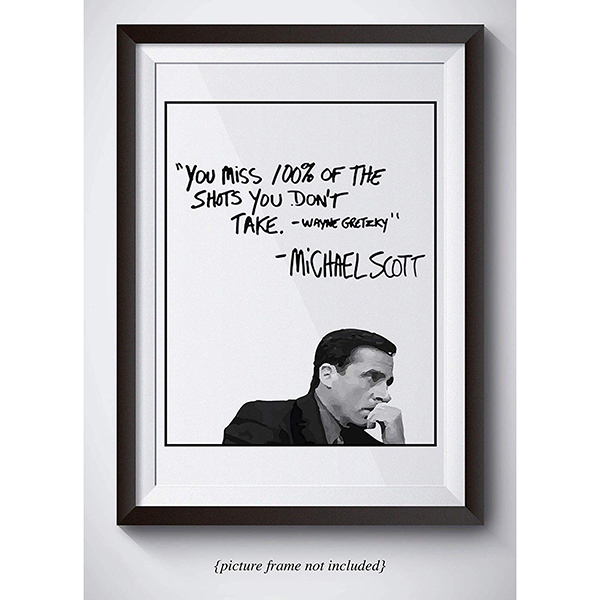 Michael Scott Motivational Wall Art