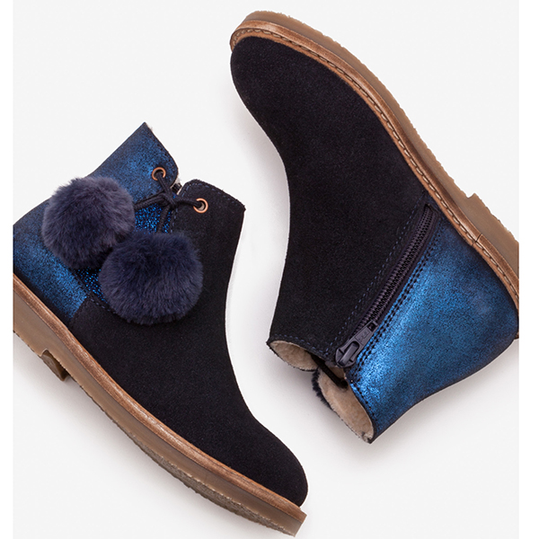 Boden Pompom Suede Boots