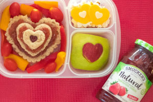 i love you heart lunch