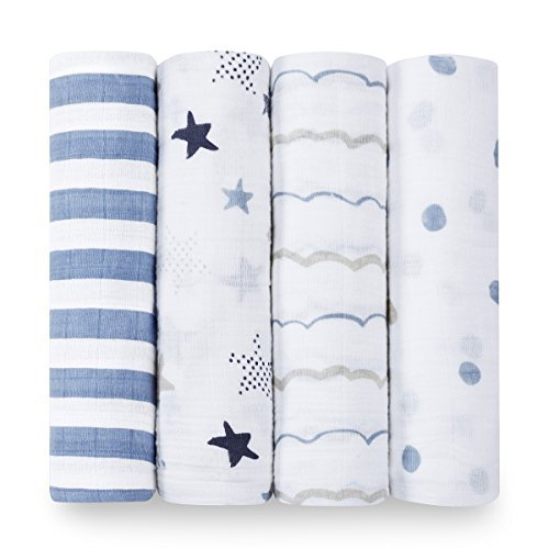 aden + anais  Rock Star Swaddle Blanket
