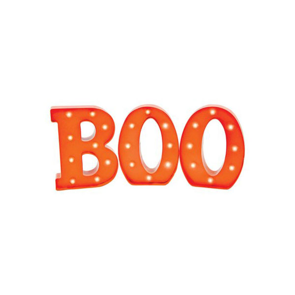 Battery-Operated Light-Up Boo Sign