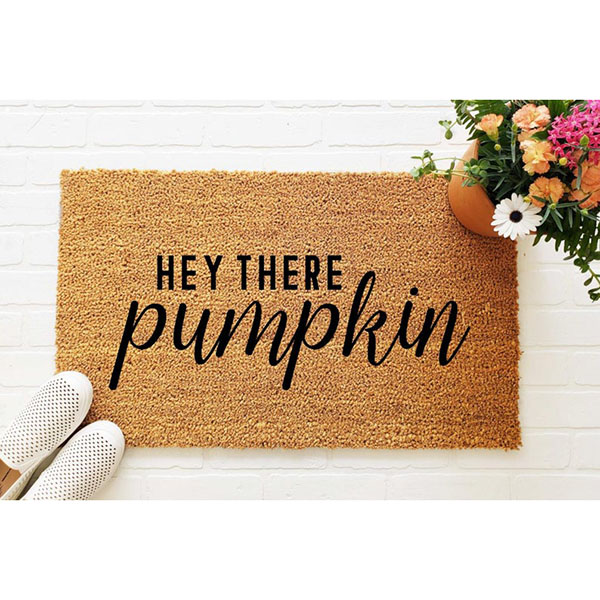 'Hey There Pumpkin' Doormat